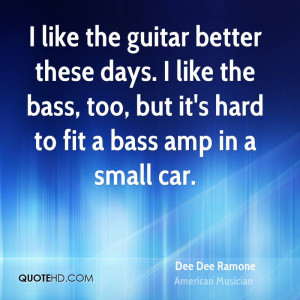 Dee Dee Ramone Car Quotes