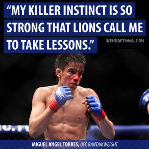 My killer instinct is so strong that lions call... | WeHeartMMA