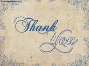 Heart felt thank you messages