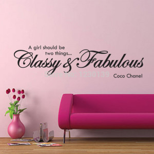 CLASSY-and-FABULOUS-COCO-CHANEL-Quote-Wall-Vinyl-Art-Mural-Sticker ...