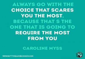 Caroline Myss #Quote #Inspiration - Betty Means Business www ...