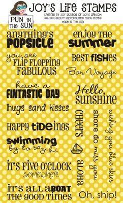 Pun in sun-Fun Summer sayings for cards or scrapbooking