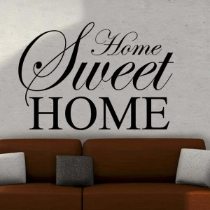 Details about HOME SWEET HOME wall art Sticker quote LARGE decor