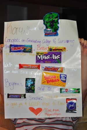 Candy Bar Anniversary Card Sayings
