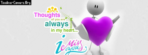 Miss You Facebook Cover