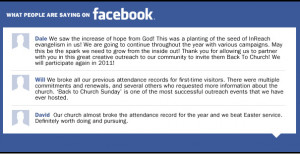 "... churches would take part in ""Back To Church Sunday"" again"
