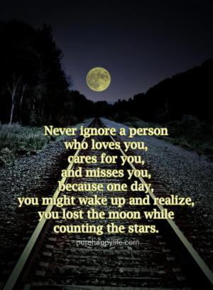 Love Quote Never Ignore...