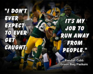 Randall Cobb Poster Green Bay Packe rs Photo Quote Fan Wall Art Print ...
