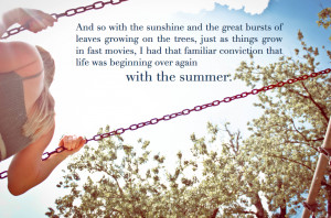 ... On The Trees, Just As Things Grow In Fast Movies… ~ Summer Quote