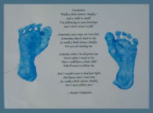 footprint with poem craft gift for dad on father's day, birthday, or ...