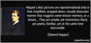 More Edward Hopper Quotes