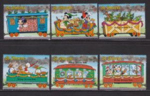 St. Vincent - Sc 1121 - 26 - Disney Characters On Steam Train ...