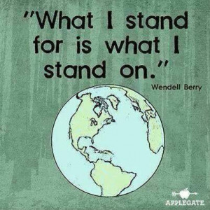 stand for and on the earth.