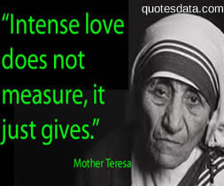 Mother Teresa pencil in the hand of a writing God, who is sending a ...
