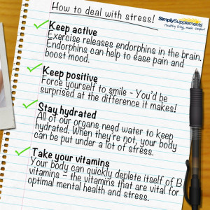 How to deal with stress. I do all of these daily but I'm still ...