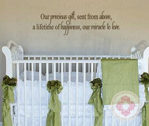 Baby Quote Wall Decals - Our Precious Gift Sent From Above Vinyl Wall ...