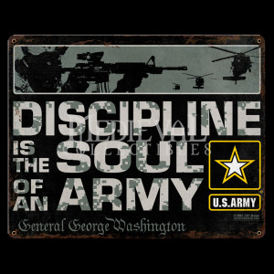 Army Discipline Vintage Steel Sign
