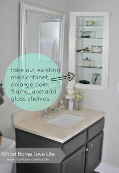 ... Bathrooms, Small Guest Bathroom Ideas, Medicine Cabinets, Master Bath
