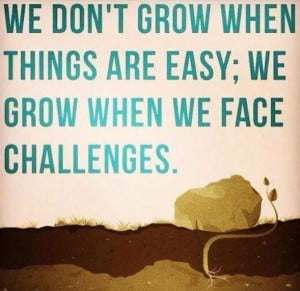 Facing challenges allows us to grow!