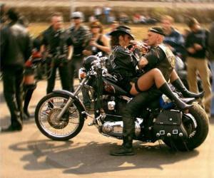 STRANGE MOTORCYCLE FUN - RIDING DOUBLE IN STURGIS