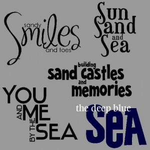 beach quotes and sayings   Beach Titles Word Art - Digital Scrapbook ...