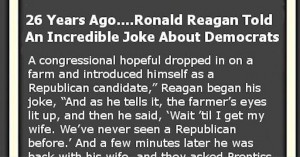 Ronald Reagan Perfectly Sums Up Democrats With This Brilliant Joke ...