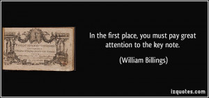 More William Billings Quotes