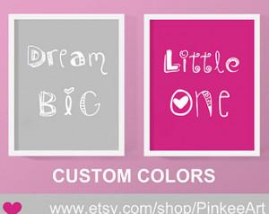 nursery quote print new baby, nursery wall poem baby girl, dream big ...
