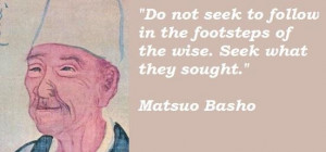 Matsuo basho famous quotes 3