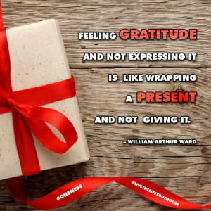 ... is like wrapping a present and not giving it. – William Arthur Ward