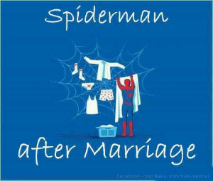 Funny Spiderman After Marriage Picture Sms