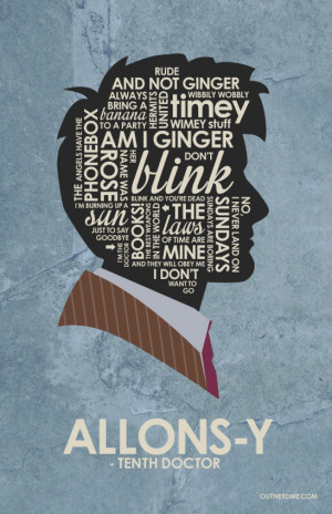 Dr Who - 10th Doctor Quote Poster - Doctor Who Fan Art (38786092 ...