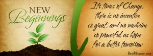 New Beginnings Facebook Timeline Profile Cover