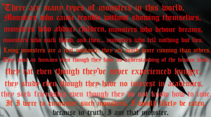 Psychological Anime/Manga L Lawliet ~ Monster Quote