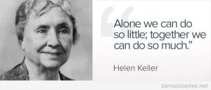 Alone quote Helen Keller Helen Keller