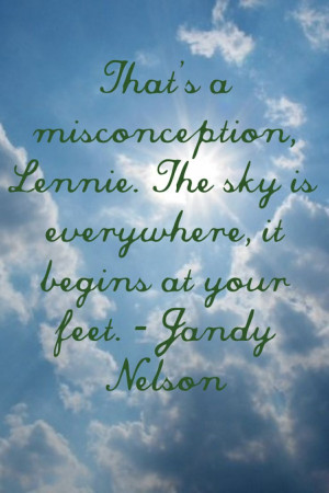 ... with the beautiful quote from The Sky is Everywhere by Jandy Nelson