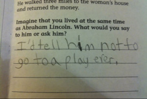 Funny History test Answer!