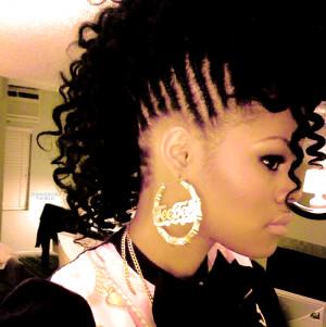 teyana taylor mohawk hairstyle
