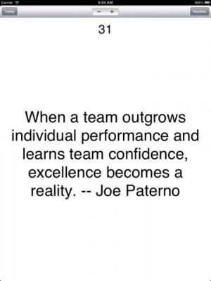 Quote About Being a Team