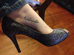 My foot tattoo,