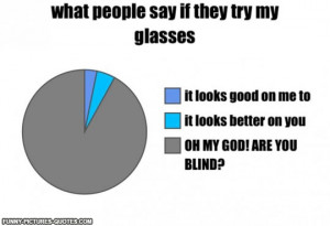 When People Try My Glasses | Funny Pictures and Quotes
