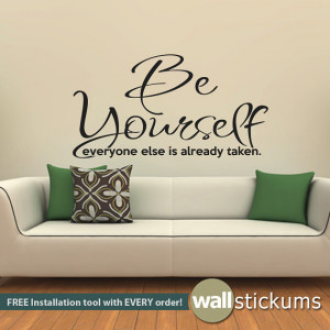 living room wall decal quoteswall decal quote be yourself living room ...