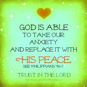 Catholic Inspirational Quotes – Peace and Anxiety