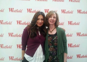 Stacy and fan at Westfield