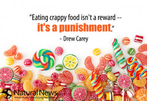 Eating crappy food isn't a reward -- it's a punishment.