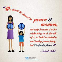 ... and lasting peace today, but it is for the future.