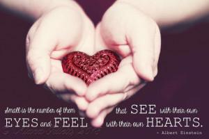 Albert Einstein quote about the Heart...