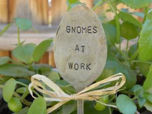 pick - garden marker - gardeners plant marker - funny gnome quote ...