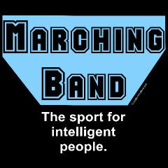 Blue Marching Band Sport Custom T-Shirts