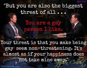 Funny Gay Quotes Gay seem non-threatening
